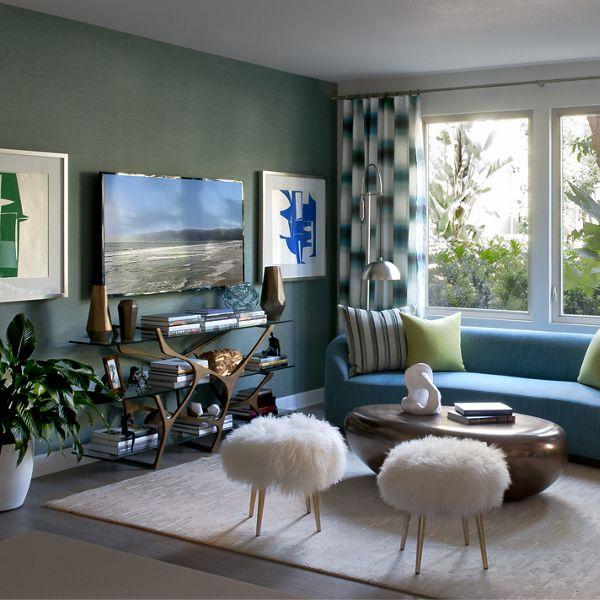 Interior view of living room at Montecito - Villas at Playa Vista Apartment Homes in Los Angeles, CA.