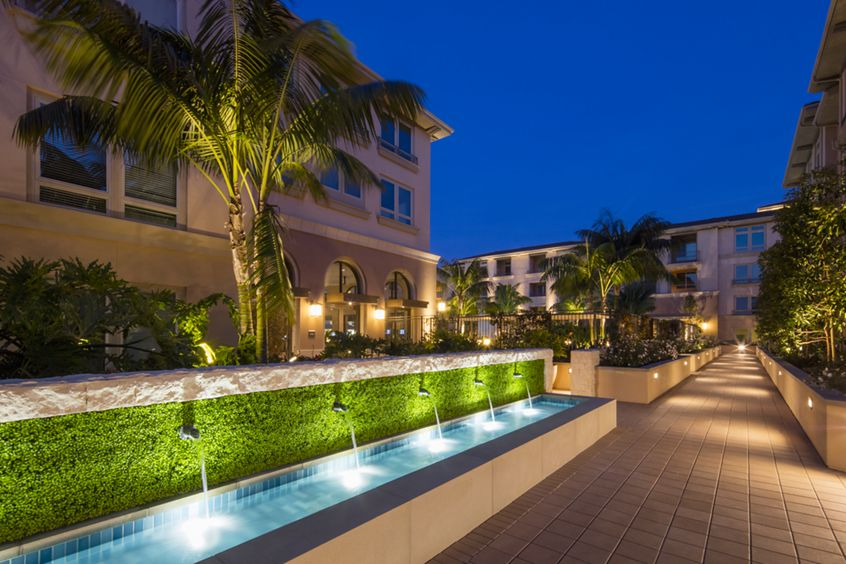 Exterior views at Montecito - Villas at Playa Vista Apartment Homes in Los Angeles, CA.