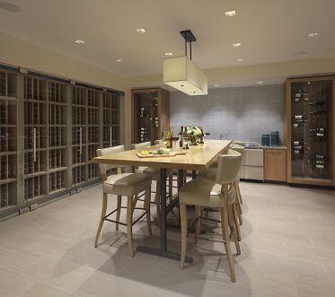 View of wine room at Montecito - Villas at Playa Vista Apartment Homes in Los Angeles, CA.