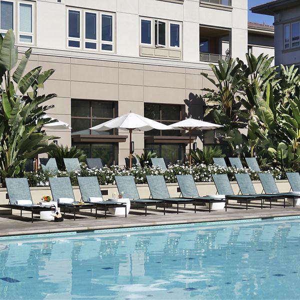 Pool view at Sausalito - Villas at Playa Vista Apartment Homes in Los Angeles, CA.