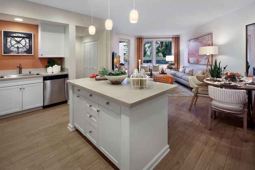 Interior view of Plan 32 at Sausalito - Villas at Playa Vista Apartment Homes in Los Angeles, CA.