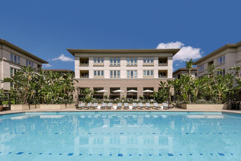 View of pool at Sausalito - Villas at Playa Vista Apartment Homes in Los Angeles, CA.