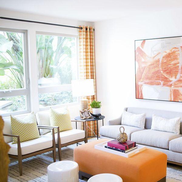 Interior view of a living room at Sausalito at Villas Playa Vista Apartment Homes in Los Angeles, CA.