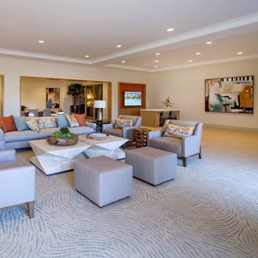 Interior view of the Leasing Center at Monticello Apartment Homes in Santa Clara, CA.