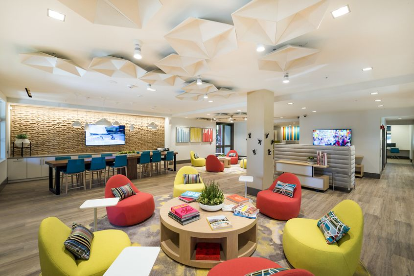 Interior view of the Leasing Center at The Oaks at North Park Apartment Homes in San Jose, CA.