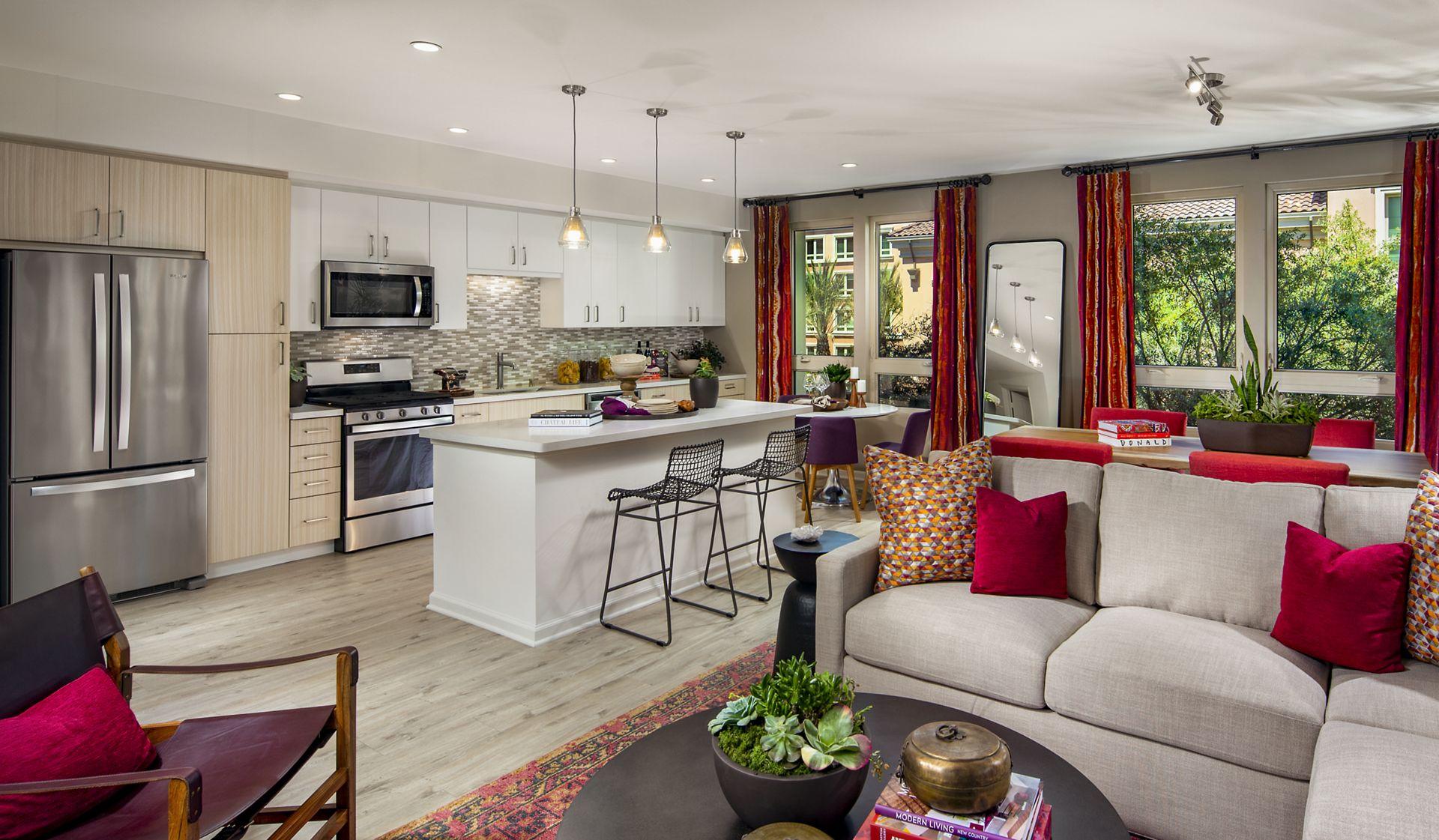 Interior view of Great Room at Santa Clara Square Apartment Homes in Santa Clara, CA.