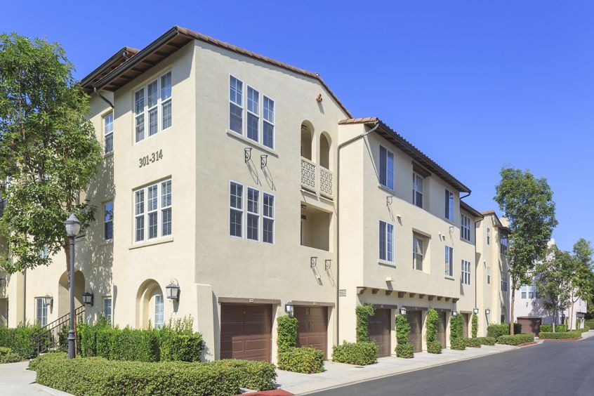 View of building exterior at Anacapa Apartment Homes in Irvine, CA.