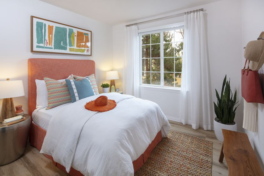 Interior view of  bedroom at Anacapa Apartment Homes in Irvine, CA.