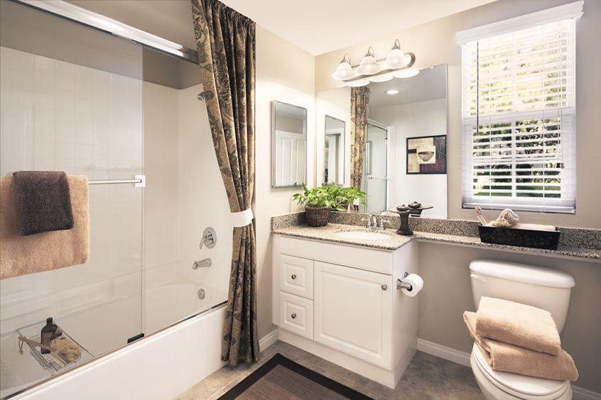 Interior views of bathroom at Anacapa Apartment Homes in Irvine, CA.