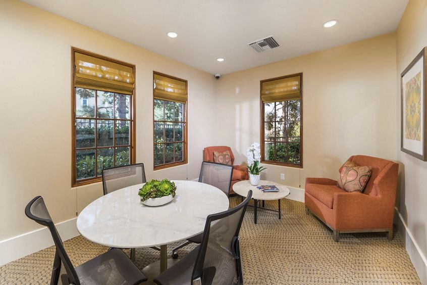 Interior view of Conference Room at Anacapa Apartment Homes in Irvine, CA.