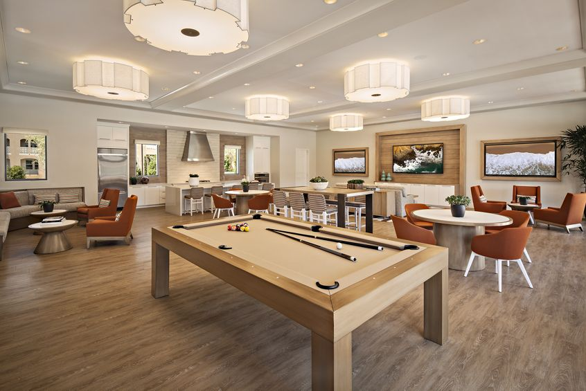 Interior views of the clubhouse at Avella Apartment Homes in Cypress Village. Lamb 2015.