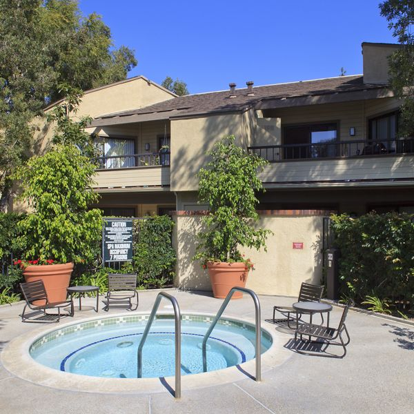 Spa view at Cedar Creek Apartment Homes in Irvine, CA.