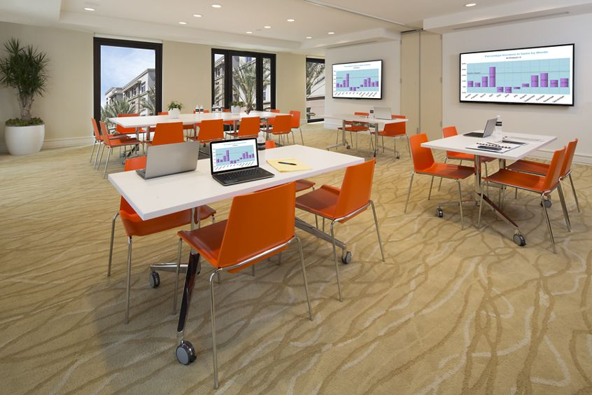 Interior view of conference room at Centerpointe in Irvine Spectrum Apartment Homes in Irvine, CA.