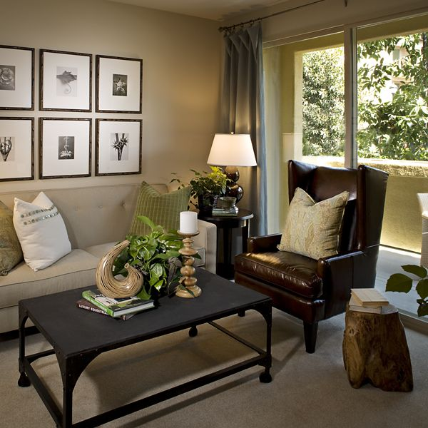 Exterior view of living room at Esperanza Apartment Homes in Irvine, CA.