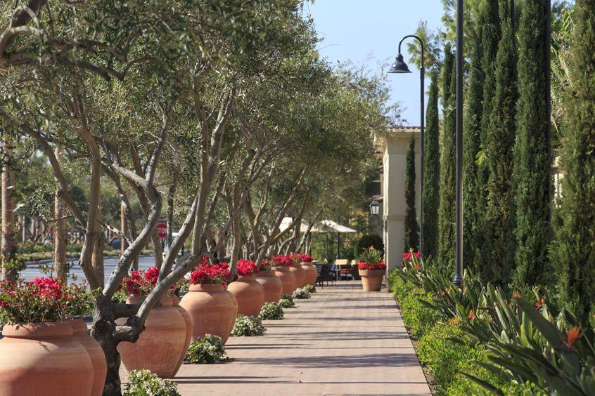 Exterior view of Los Olivos Apartment Homes at Irvine Spectrum in Irvine, CA.