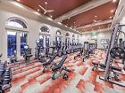 Interior view of fitness center at Los Olivos Apartment Homes at Irvine Spectrum in Irvine, CA.