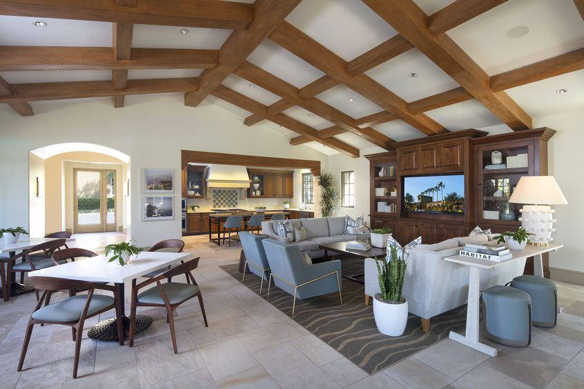 Interior view of Clubhouse at Orchard Hills Apartment Homes in Irvine, CA.