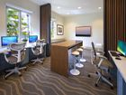 Interior view of business center at Orchard Hills Apartment Homes in Irvine.