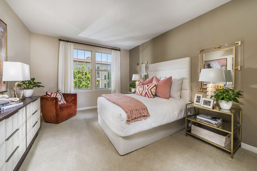Interior view of bedroom at Orchard Hills Apartment Homes in Irvine, CA.
