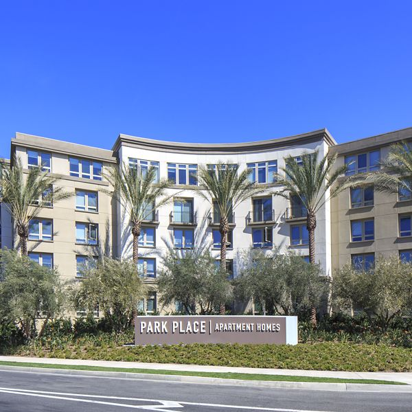 Exterior view of Park Place Apartment Homes in Irvine, CA.