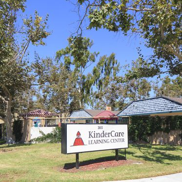 Exterior view of KinderCare Learning Center at Park West Apartment Homes in Irvine, CA.