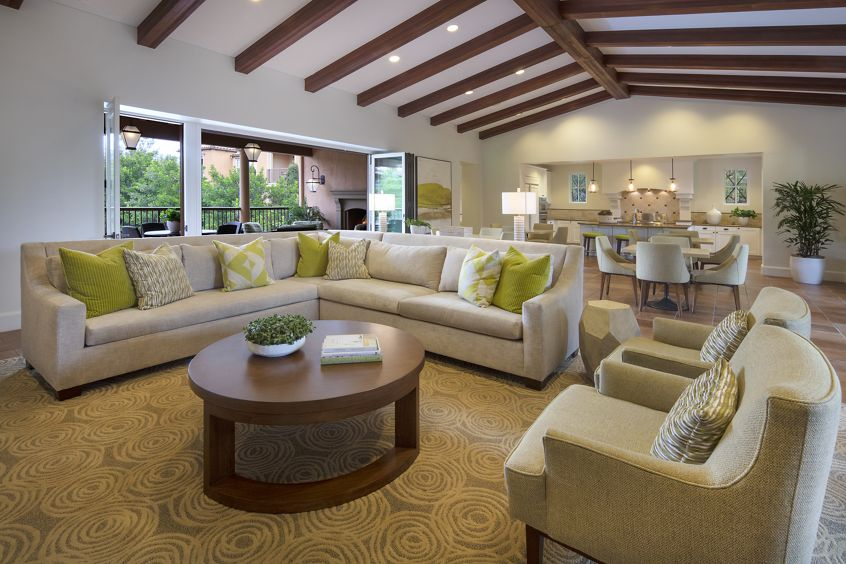 Interior view of Clubhouse at Portola Place Apartment Homes in Irvine, CA.