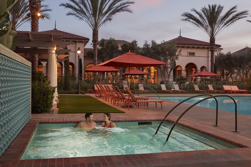 Spa view at Promenade Apartment Homes in Irvine, CA.