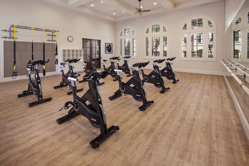 Interior view of spin room at Quail Hill Apartment Homes in Irvine, CA.