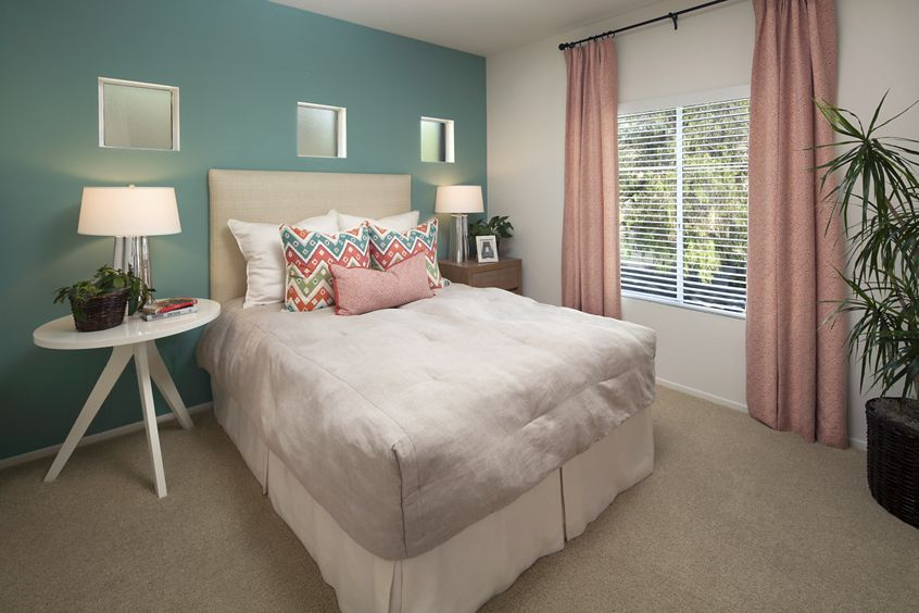 Bedroom view of San Paulo Apartment Homes in Irvine, CA.