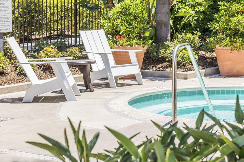 Spa view at San Remo Villa Apartment Homes in Irvine, CA.