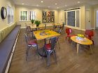 Interior view of clubhouse at Santa Maria Apartment Homes in Irvine, CA.