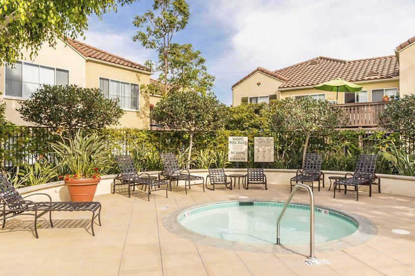 Spa view at Santa Maria Apartment Homes in Irvine, CA.