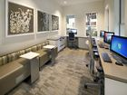 Interior view of business center at Santa Rosa Apartment Homes in Irvine, CA.