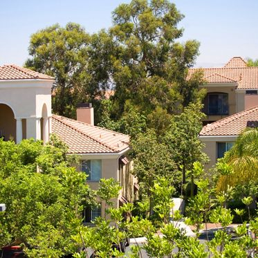Exterior view of Santa Rosa Apartment Homes in Irvine, CA.