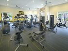 Interior view of fitness center at Santa Rosa Apartment Homes in Irvine, CA.