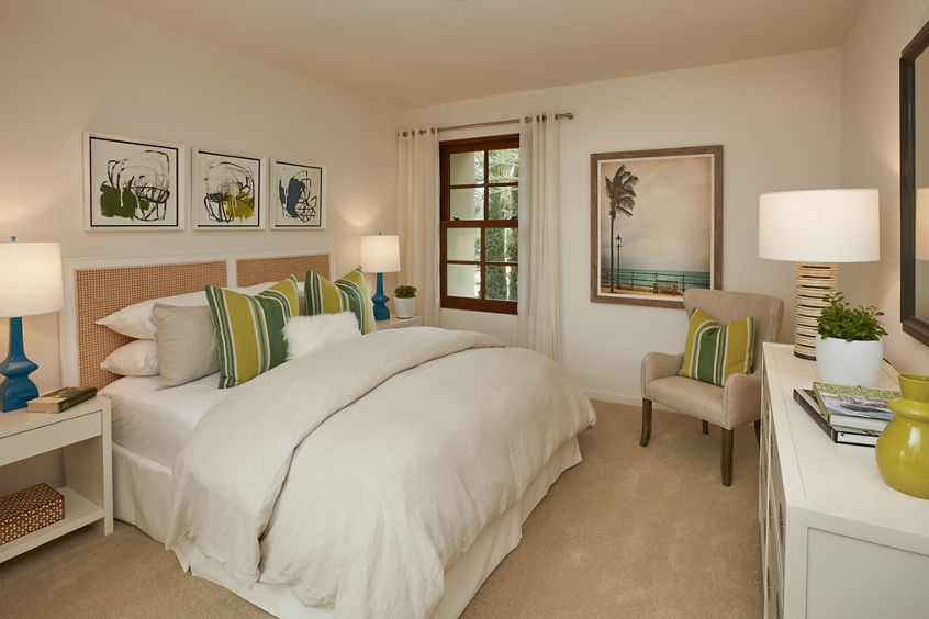 Interior view of bedroom at The Park at Irvine Spectrum Apartment Homes in Irvine, CA.