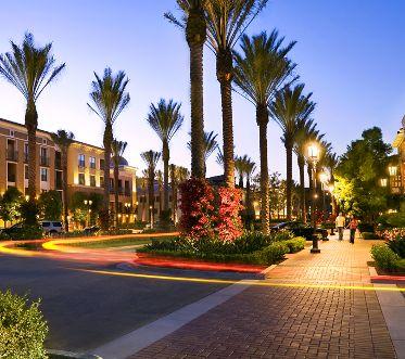 Exterior views of The Village Cambria at Irvine Spectrum Apartment Homes in Irvine, CA.