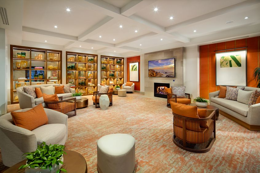 Interior view of Great Room at Cambria at The Village at Irvine Spectrum Apartment Homes in Irvine, CA.