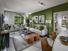 Interior view of living room at Serena at The Village at Irvine Spectrum Apartment Homes in Irvine, CA.