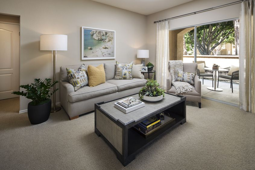 Interior view of living room at Turtle Rock Canyon Apartment Homes in Irvine, CA.