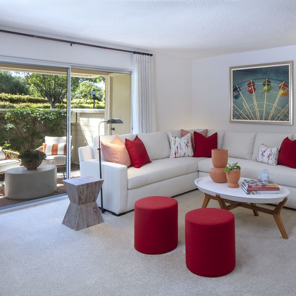 Interior view of living room at Turtle Rock Vista Apartment Homes in Irvine, CA.