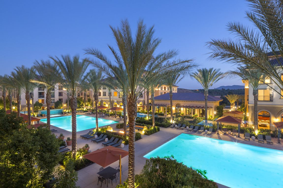 Pool view of Westview at Irvine Spectrum Apartment Homes in Irvine, CA