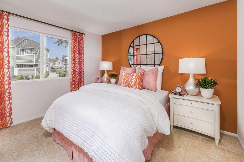Interior view of Bedroom at Windwood Glen Apartment Homes in Irvine, CA.