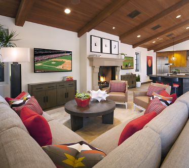 Woodbury Court Apartment Homes Clubhouse Interior Irvine, CA