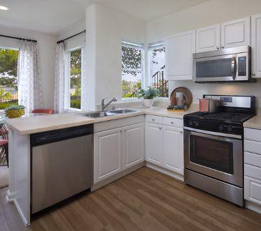 Kitchen and Dining Room Interior at Vista Real, Mission Viejo, CA