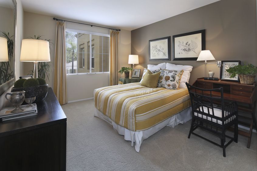 Bedroom view of Baypointe Apartment Homes in Newport Beach, CA.