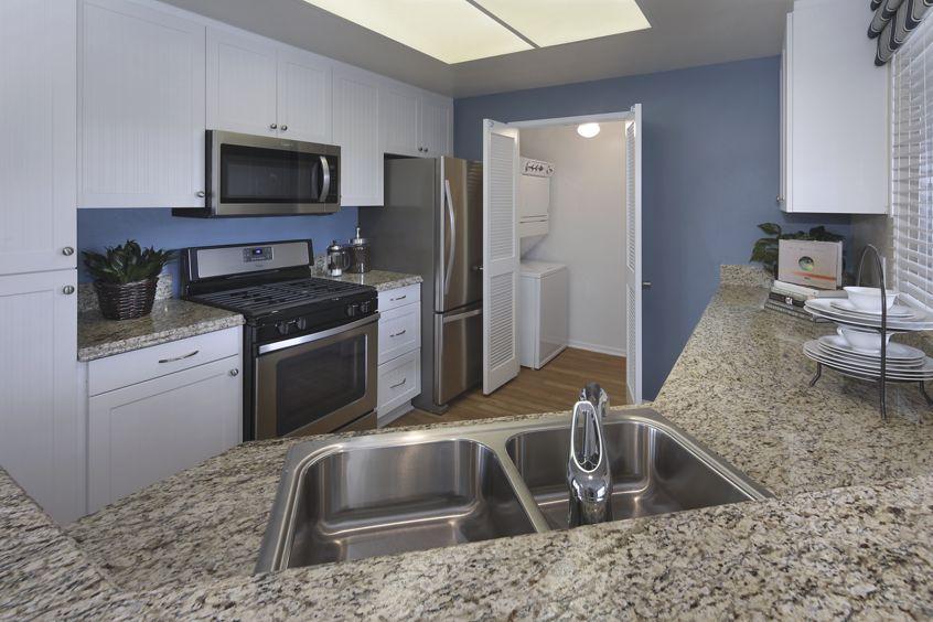 Kitchen view of Baypointe Apartment Homes in Newport Beach, CA.