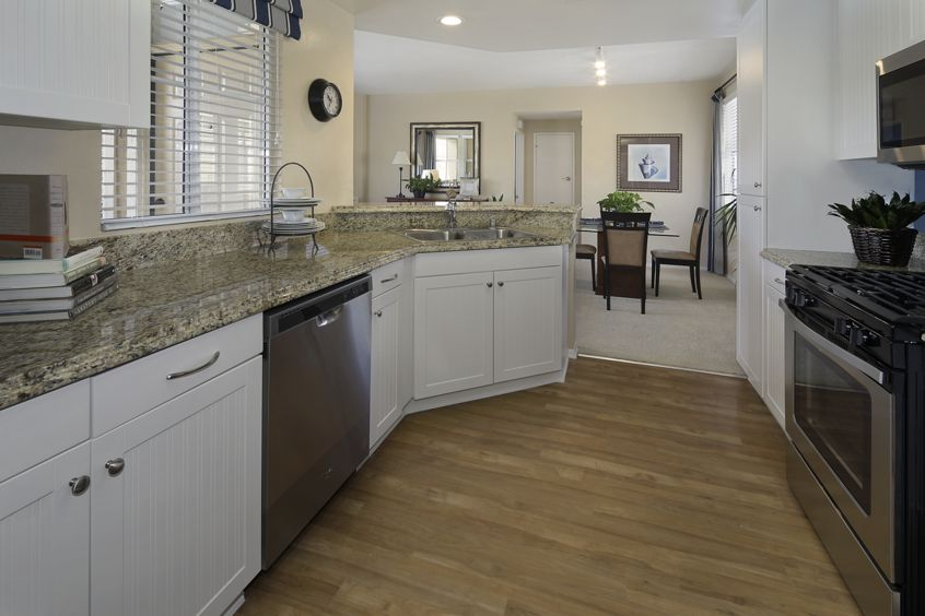 Interior view of Baypointe Apartment Homes in Newport Beach, CA.