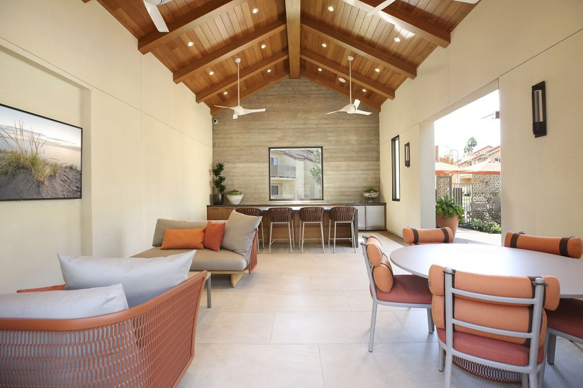 Interior view of clubhouse at Newport North Apartment Homes in Newport Beach, CA.