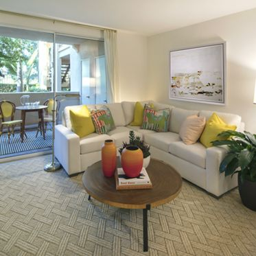 Interior view of a living room at Turtle Ridge Apartment Homes Apartment Homes in Newport Beach, CA.